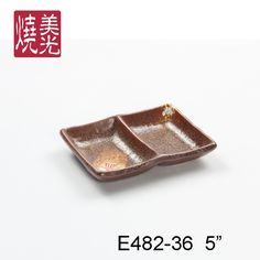 Japanese soy saucer dish&stoneware dish E482-36  Size: Length 5 inch
