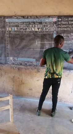 This a photo of a teacher in a village in Ghana teaching computer science , RESPECT . - Imgur
