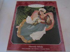 1998 HALLMARK ARCHIVES COLLECTION HEAVENLY MELODY ANGEL ORNAMENT MIB #Hallmark #Ornament