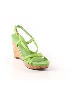 Lauren by Ralph Lauren Wedges: Size 8.00 Light Green Women's Clothing - $55.99