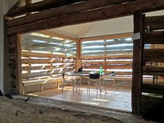 Image 3 of 22 from gallery of Alpine Loft / Office Winhov + Office Haratori. Courtesy of Office Haratori Office Interior Design, Office Interiors, Loft Office, Wooden Barn, Attic Spaces, Japanese House, Contemporary Architecture, Living Spaces, House Design