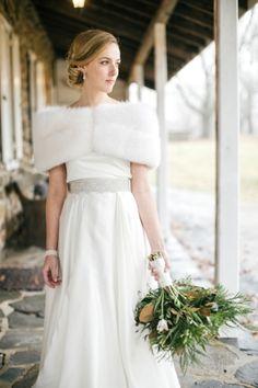 Classic winter shawl. (Emily Wren Photography via Glamour & Grace)