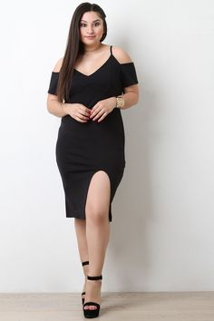 Thick Knit Cold Shoulder Front Slit Midi Dress   #ladiesfashion #ladiesboots #casualdresses #ladiestop #womensfashion #womenshoes #womenboots