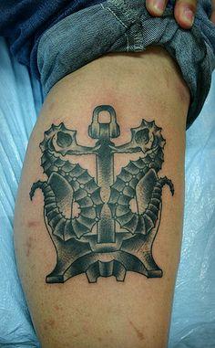 Skeleton Seahorses  Anchor Tattoo | Flickr - Photo Sharing!