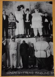 WEIRD FREAKY VINTAGE RINGLING CIRCUS PHOTO STRANGE CRAZY Pic 1 Print Bizarre R82