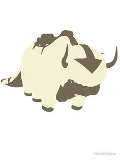 Minimalist Appa from Avatar the Last Airbender Sticker by Himehimine
