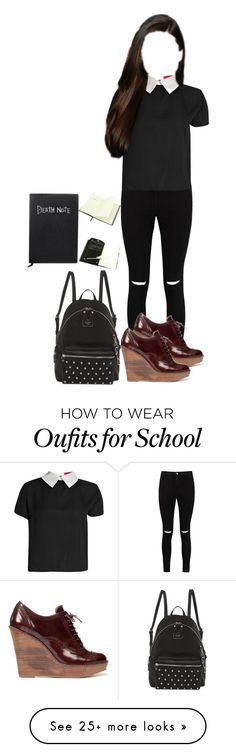 """Hope Write's in the Death Note"" by demiwitch-of-mischief on Polyvore featuring Boohoo, Zara and GUESS"
