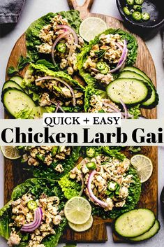 This Chicken Larb Gai recipe will have you hooked on its spicy, zesty flavor. These Thai lettuce wraps come together quickly & easily. // thai chicken // lettuce wraps // lao #lettucewraps #larb #larbgai Thai Chicken Lettuce Wraps, Larb Gai, Chicken Lunch Recipes, Cobb Salad, Spicy, Dinner, Food, Dining, Essen