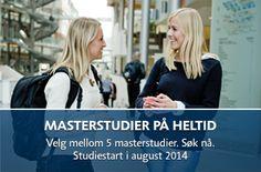 Norska Handelshögskolan. Snygg huvudmeny i två nivåer.