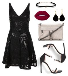 """""""Night outfit ♥ / Inspiração para a noite / Look balada / """" by camibg on Polyvore featuring Carbon & Hyde, Rebecca Minkoff and Lime Crime"""