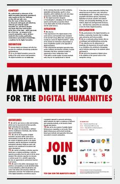Manifesto for the Digital Humanities