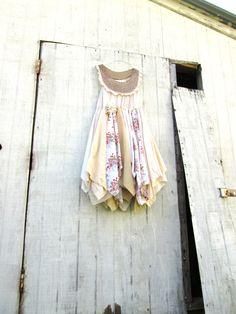 upcycled beach dress Upcycled clothing / Tattered by CreoleSha