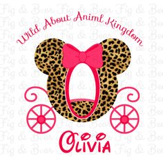 Disney Animal Kingdom T Shirt Iron On Transfer Personalized FREE for Girls Cheetah Print Princess Carriage by FIGandBEAR on Etsy https://www.etsy.com/listing/239164792/disney-animal-kingdom-t-shirt-iron-on