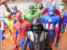 Homem Aranha Hulk Wolverine Thor Capitão América X Darth Vader Coringa V...