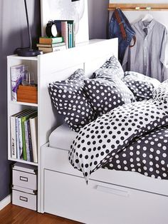 Headboard Storage Idea