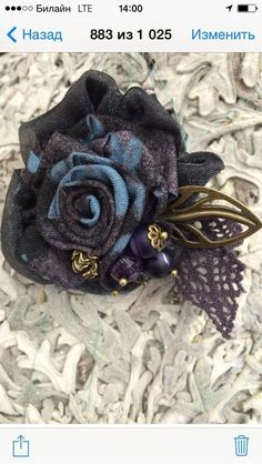 Shabby Chic Flowers, Lace Flowers, Fabric Flowers, Fabric Flower Necklace, Fabric Flower Brooch, Textile Jewelry, Fabric Jewelry, Brooches Handmade, Handmade Flowers