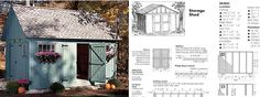DIY wood shed plan diagrams and dimensions...