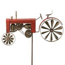 Trend WINDRAD Windspiel Traktor Trecker Rot Metall H cm Gartenstecker Garten Deko