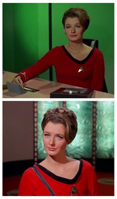 "Dr. Ann Mulhall (Diana Muldaur, season 2, episode ""Return to Tomorrow"", ST:TOS. She later played Dr Katherine Pulaski in 20 episodes of ST:TNG.."