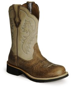 Ariat Showbaby Distressed Cowgirl Boots - Round Toe - Sheplers