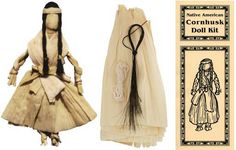Make your own traditional Native American corn husk doll. This kit includes enough corn husks, horse hair, and thread for one doll. Includes detailed instructions and brief history.