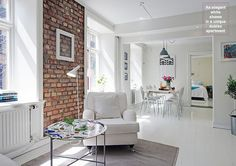 exposed bricks (via Unidentified Lifestyle by Maria Matiopoulou)