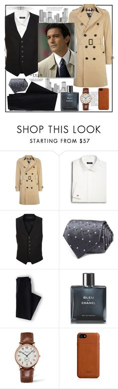 """Sexy classical man's look"" by natalyapril1976 ❤ liked on Polyvore featuring Burberry, Saks Fifth Avenue, Tom Ford, Lands' End, Chanel, Longines, Shinola and Schumacher"