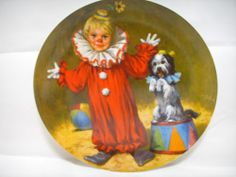 Knowles Tommy the Clown Collectors Plate John Mc Clelland First Issue of Series