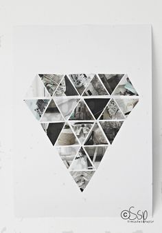 DIY: geometric wall hanging, idea for installation?