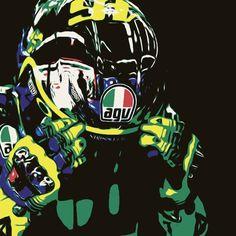 Valentino Rossi edit made with SuperPhoto. Original Photo: http://rossihelmets.com/valentino-rossi-yellow-energy-helmet-mugello-2015/