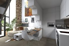 Loft v starej stodole   Living styles