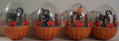 Vintage Halloween Toys ~ Hard Plastic Roly Polys