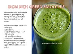 Fight anemia with this iron rich juice recipe juice veggies and iron rich smoothie forumfinder Image collections