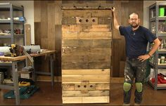 Using wood pallets and some aluminum roofing material you can make this simple smokehouse for less than $100