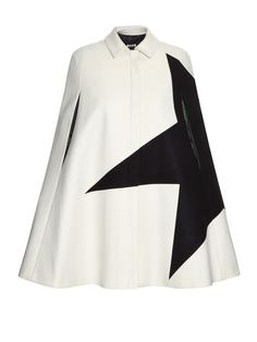 Contrast star wool-blend cape | MSGM | MATCHESFASHION.COM US