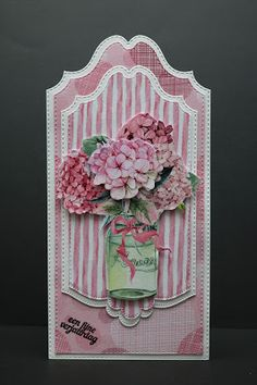 Card created by Miriam with 118040/0210 CraftEmotions Paper stack Pretty in pink.