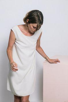 Elizabeth Suzann, off-white dress, summer