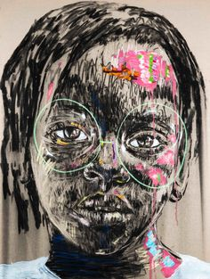 Candid Charcoal and Oil Paint Portraits of South African Children by Nelson Makamo (Colossal) Oprah Winfrey, Tour Eiffel, African Art Paintings, Oil Paintings, Paris 3, African Children, Art Children, South African Artists, Colossal Art