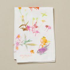Watercolor Flora Tea Towel