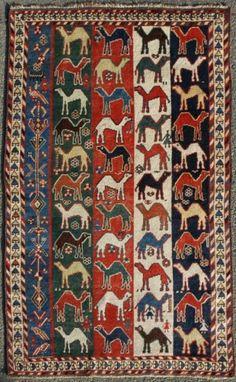 Persian Luri Gabbeh rug, 1900