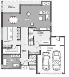 Bauhaus villa by Meisterstück-HAUS Architecture Bauhaus, Architecture Design, Architectural Design House Plans, Modern Architecture House, Modern House Plans, Small House Plans, House Floor Plans, Home Design Plans, Building A House