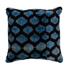Option 2- Sky Lucy Velvet Ikat Pillow