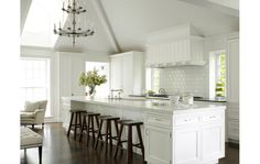 All white. Adding your own personality to this kitchen would be a cinch! photo:Julian Wass