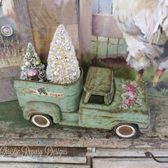 "26 Likes, 6 Comments - Christie Hansen-Repasy (@christie_repasy) on Instagram: ""I love this old Tonka truck I purchased from ""Hollyhock Antiques"" @debbiebartlejiron and freshly…"""