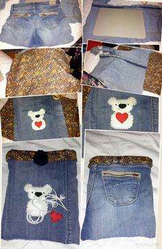 "For my samsung note 10"" DIY cover with headphone holder and pocket for charger, recycled jeans"
