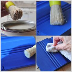 Waxing Painted Furniture —While your wax is still wet, use a rag or buffing cloth to remove any excess and give your piece a light buffing.  For an even harder finish come back 24 hours later and give your piece a final buff.  This will provide you with a beautiful low sheen to the  surface of your piece.