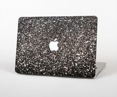 "The Black Unfocused Sparkle Skin Set for the Apple MacBook Pro 15"" with Retina Display"
