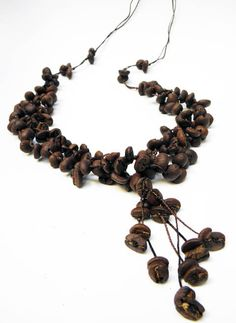 Natural Coffee Bean Necklace Kenya Coffee by Handmadebyvaly, €33.24
