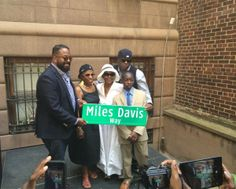 On what would've been Miles Davis' 88th birthday, Cicely Tyson & The Davis Family attend the ceremony of the renaming of 77th Street to Miles Davis Way. New York City, May 26, 2014.