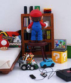 Super Mario: Estante de livros – Sai da Minha Lente